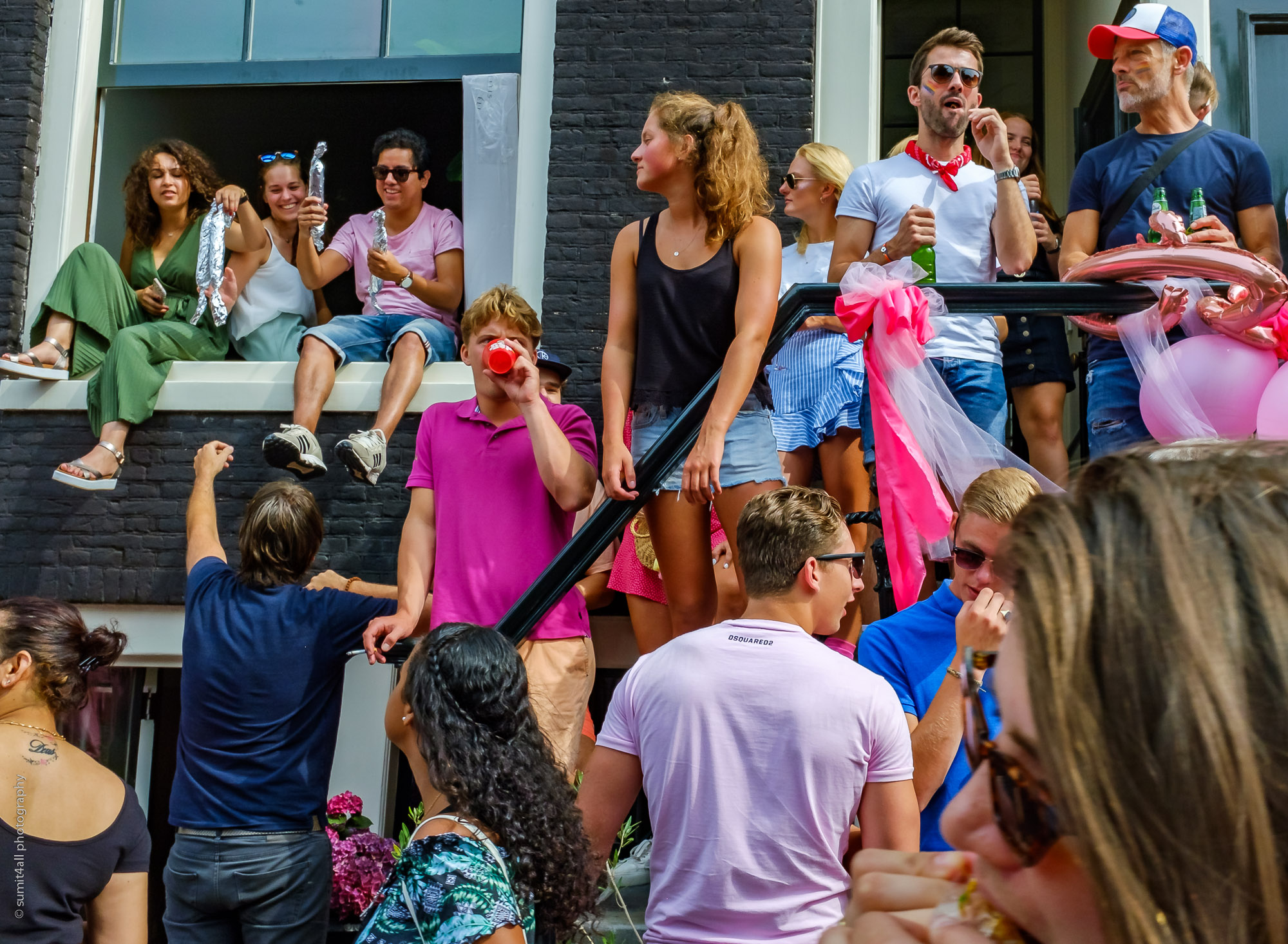 Street Party during the Gay Pride Day, Amsterdam