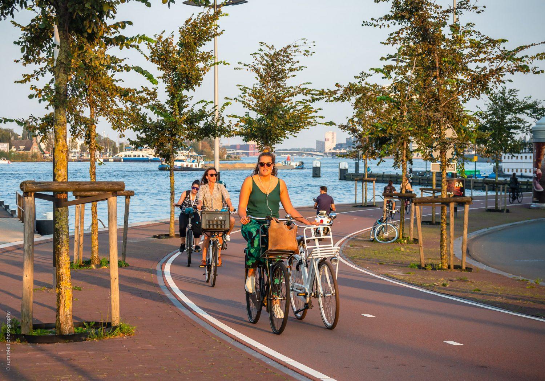 Double Biking In Amsterdam