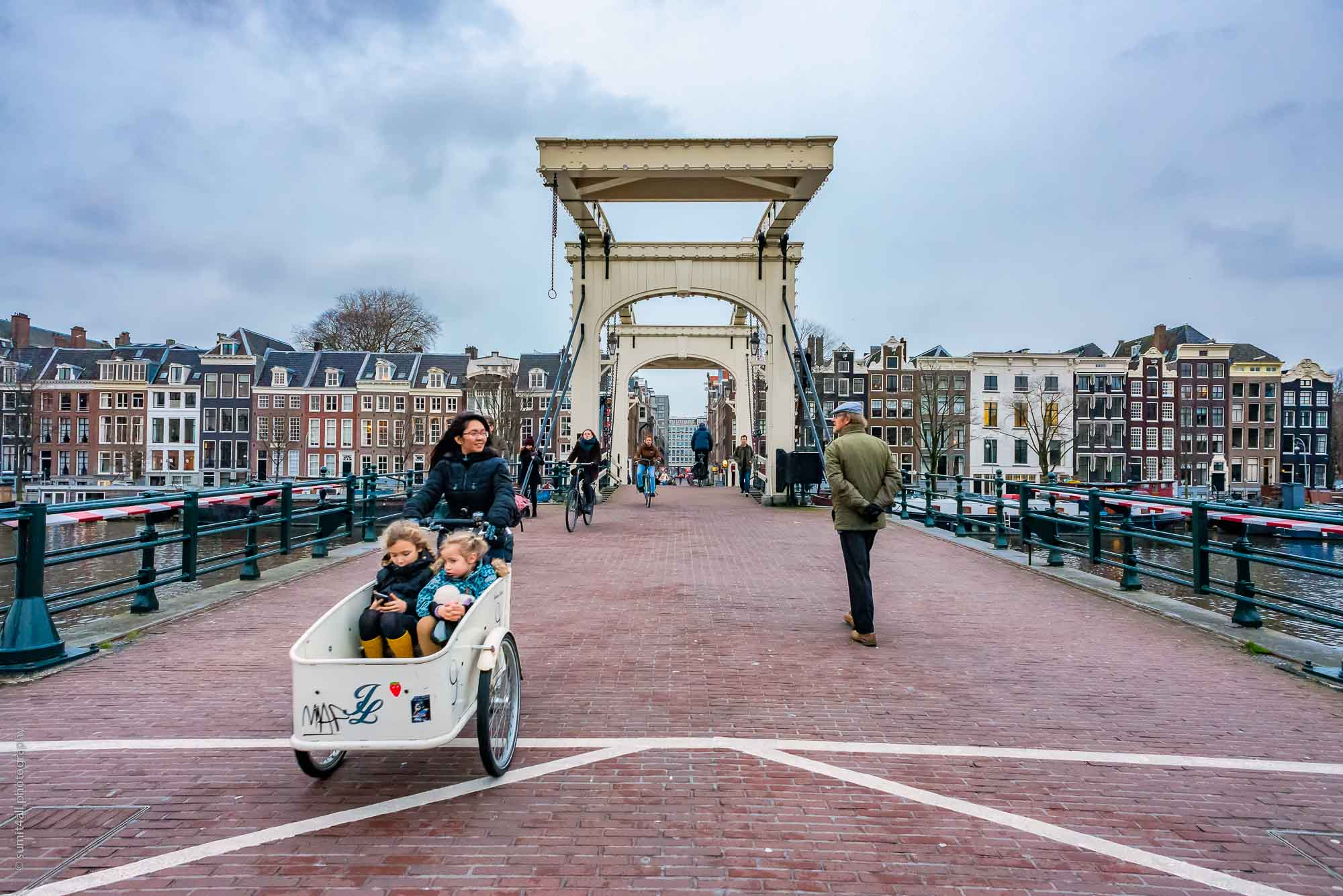 A Bakfiet On The Magere Brug in Amsterdam