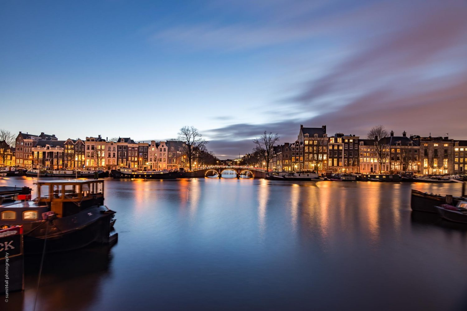 Amstel River After Sunset