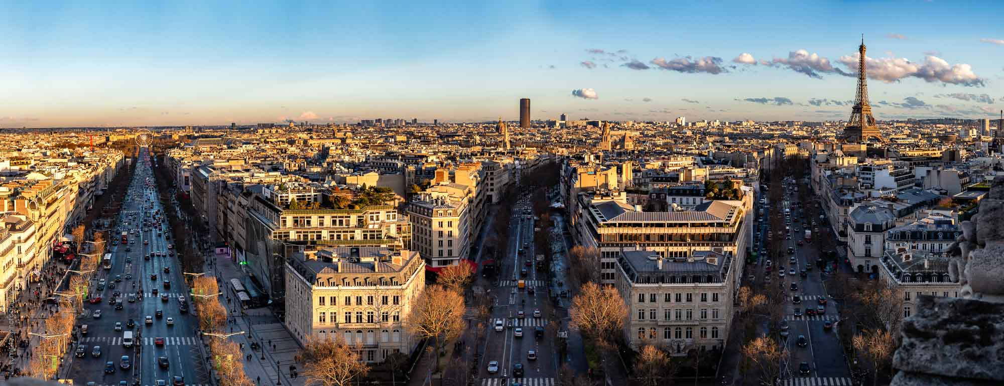 Sunset Panorama in Paris
