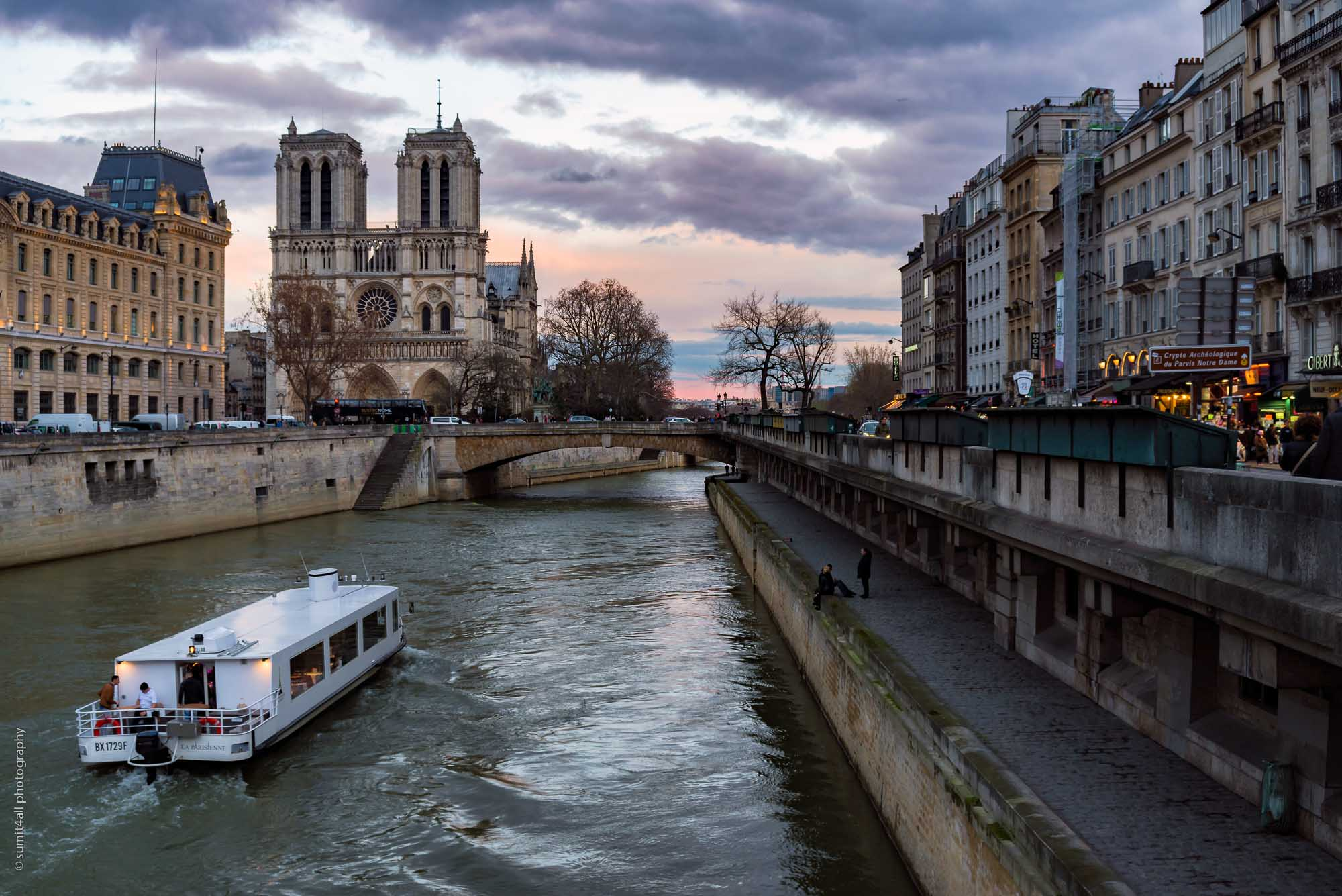 The Notre Dame Cathedral and the Seine, Paris