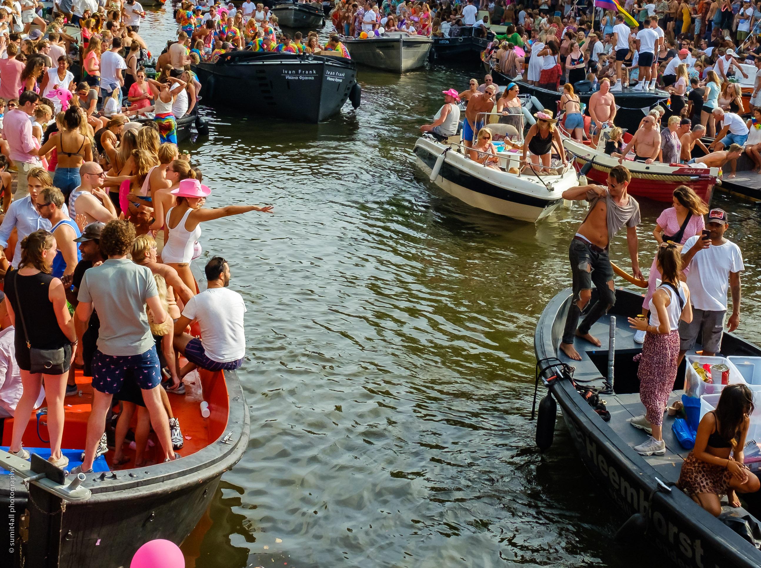 Fun in the Gay Pride Parade, Amsterdam