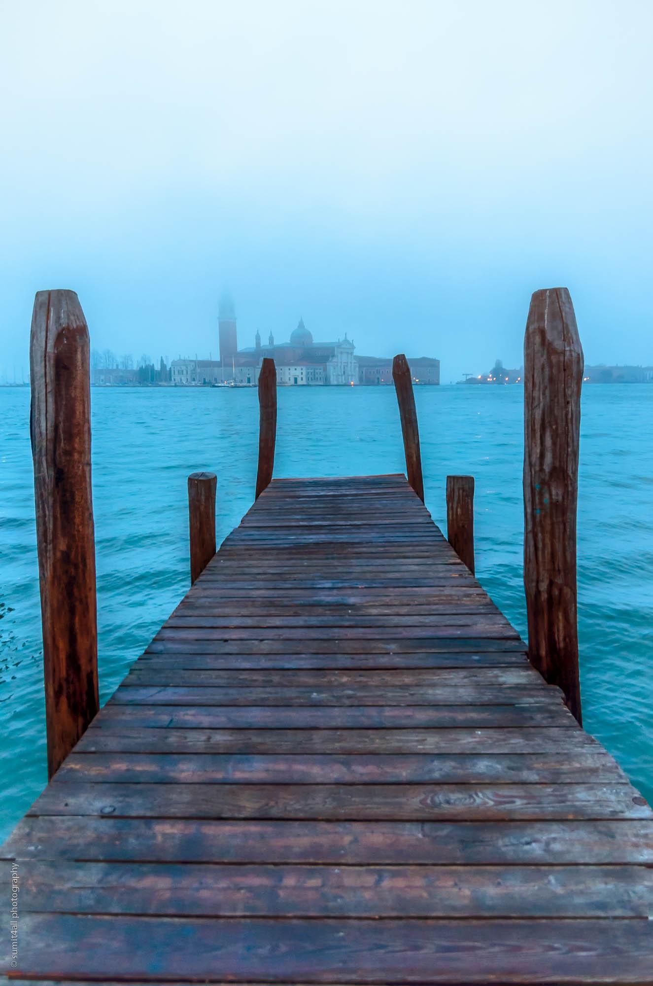 Foggy Morning in Venice, Italy