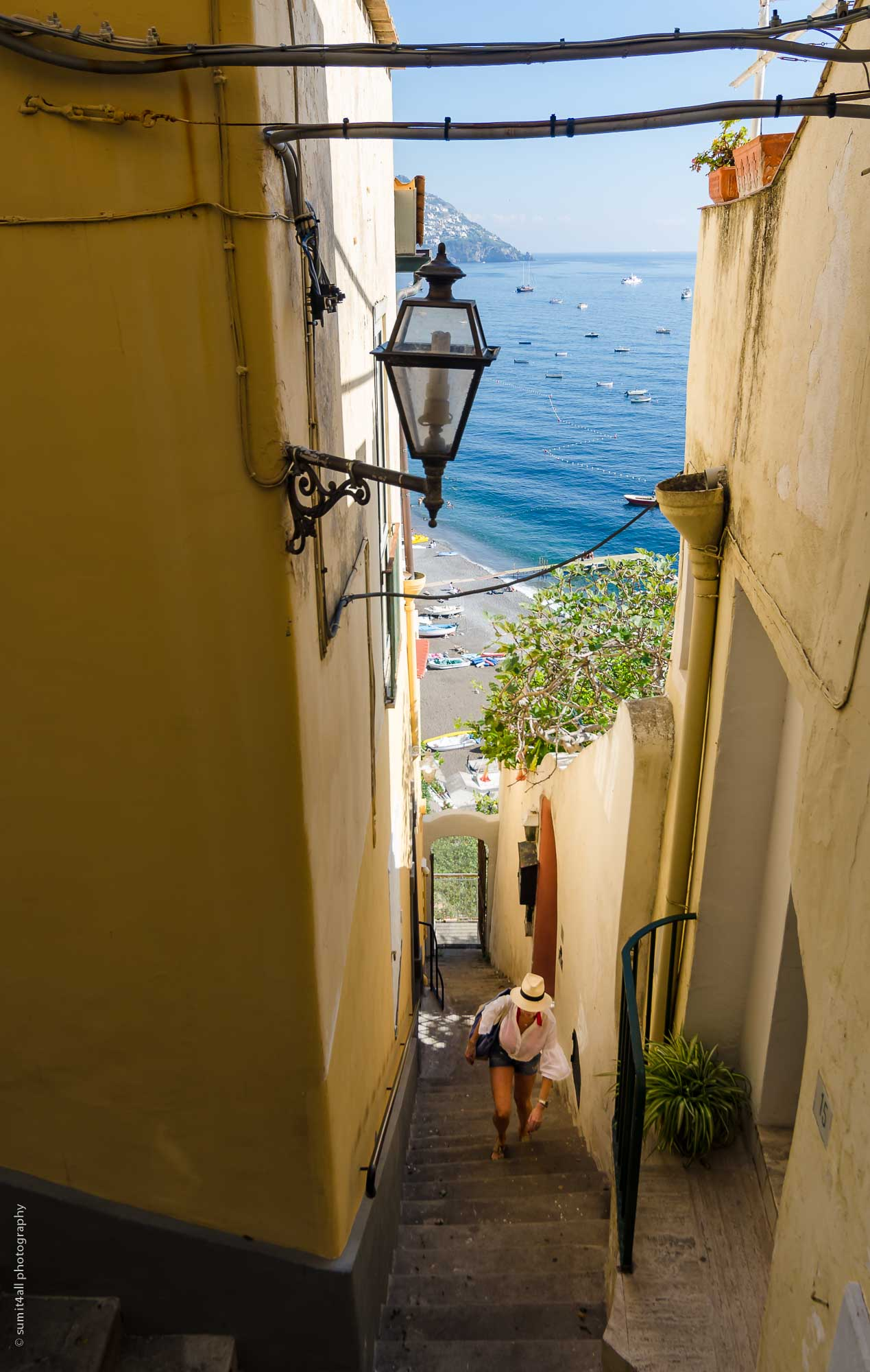 Steep Stairs in Positano, Italy