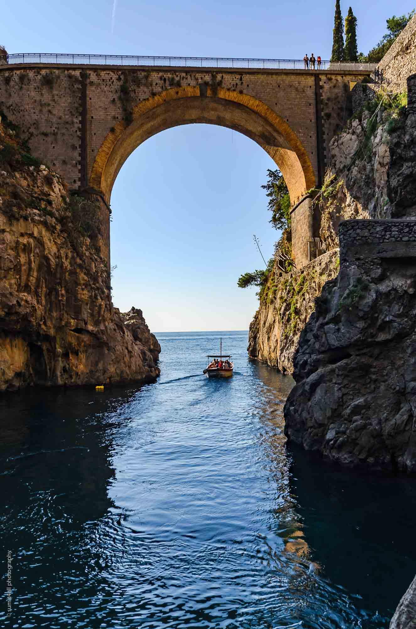 Bridge in Furore on the Amalfi Coast, Italy