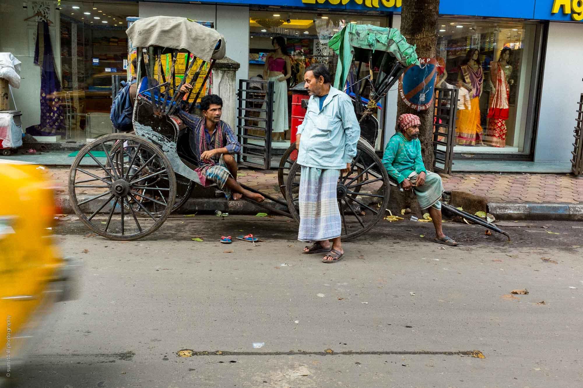 Rickshaw Pullers in Kolkata