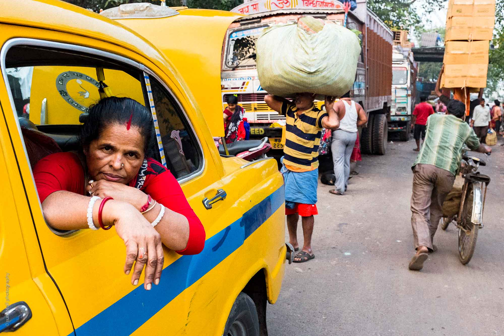 Intense Colors on the Streets of Kolkata