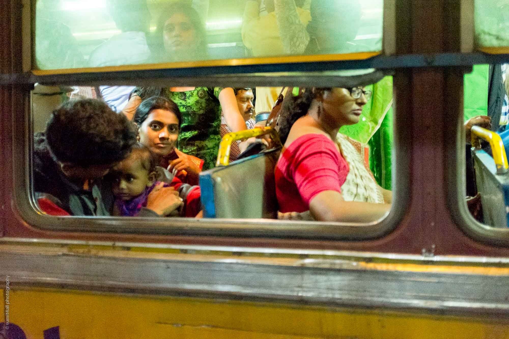 Eye Contact on a Bus , Kolkata