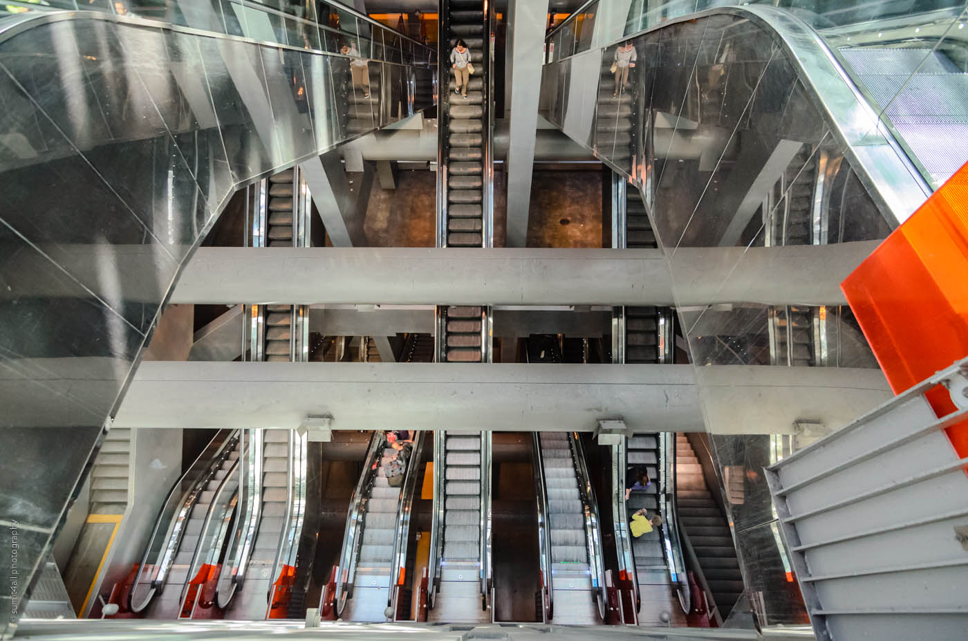 Escalators at Garibaldi Metro Station in Naples