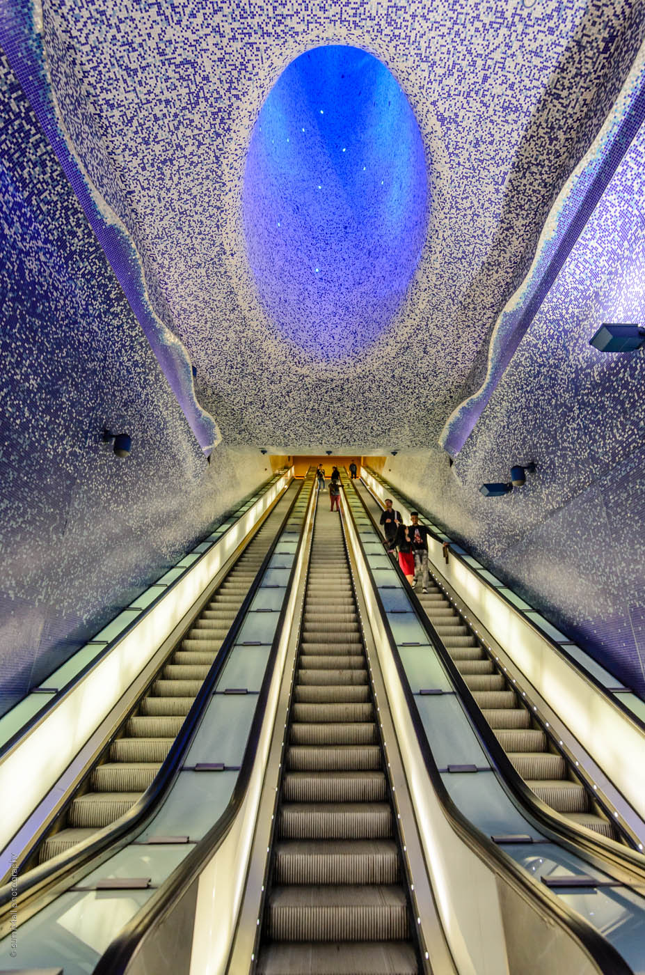 Escalators at Toledo Metro Station in Naples