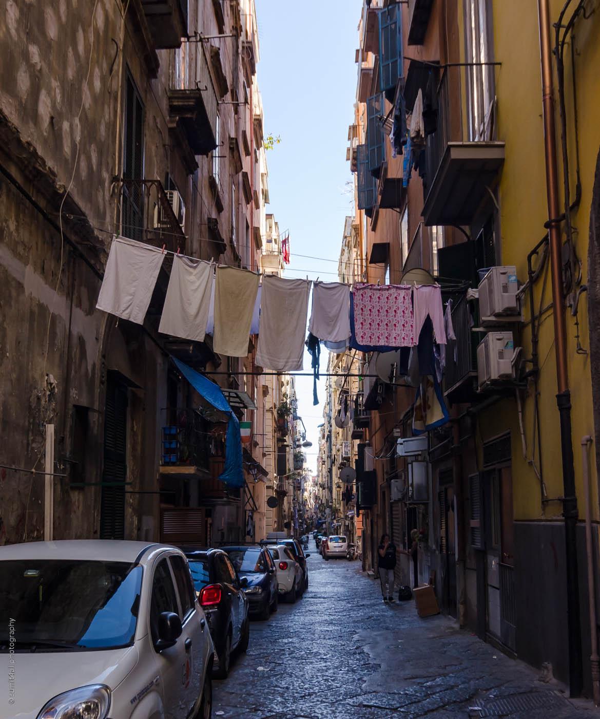 A Street Scene in Naples, Italy