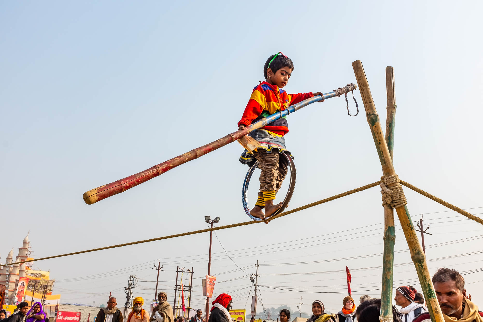A Child Performer during the Kumbh Mela 2019 in Allahabad (Prayagraj)