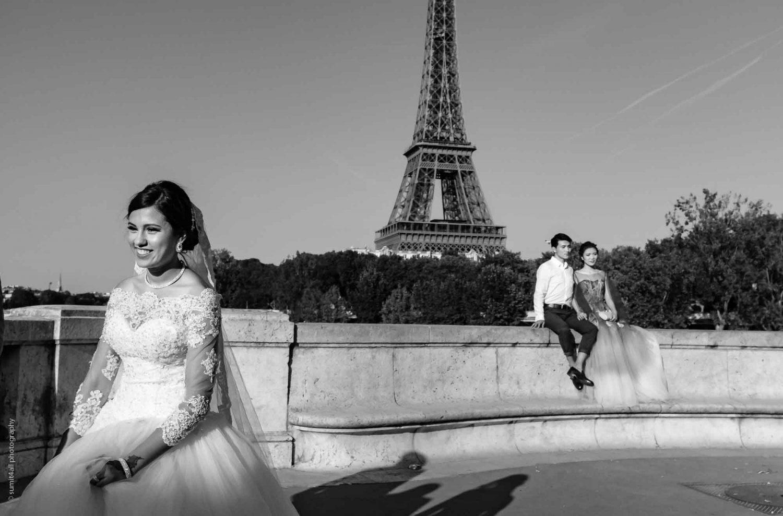 A Wedding Shoot Near The Eiffel Tower in Paris