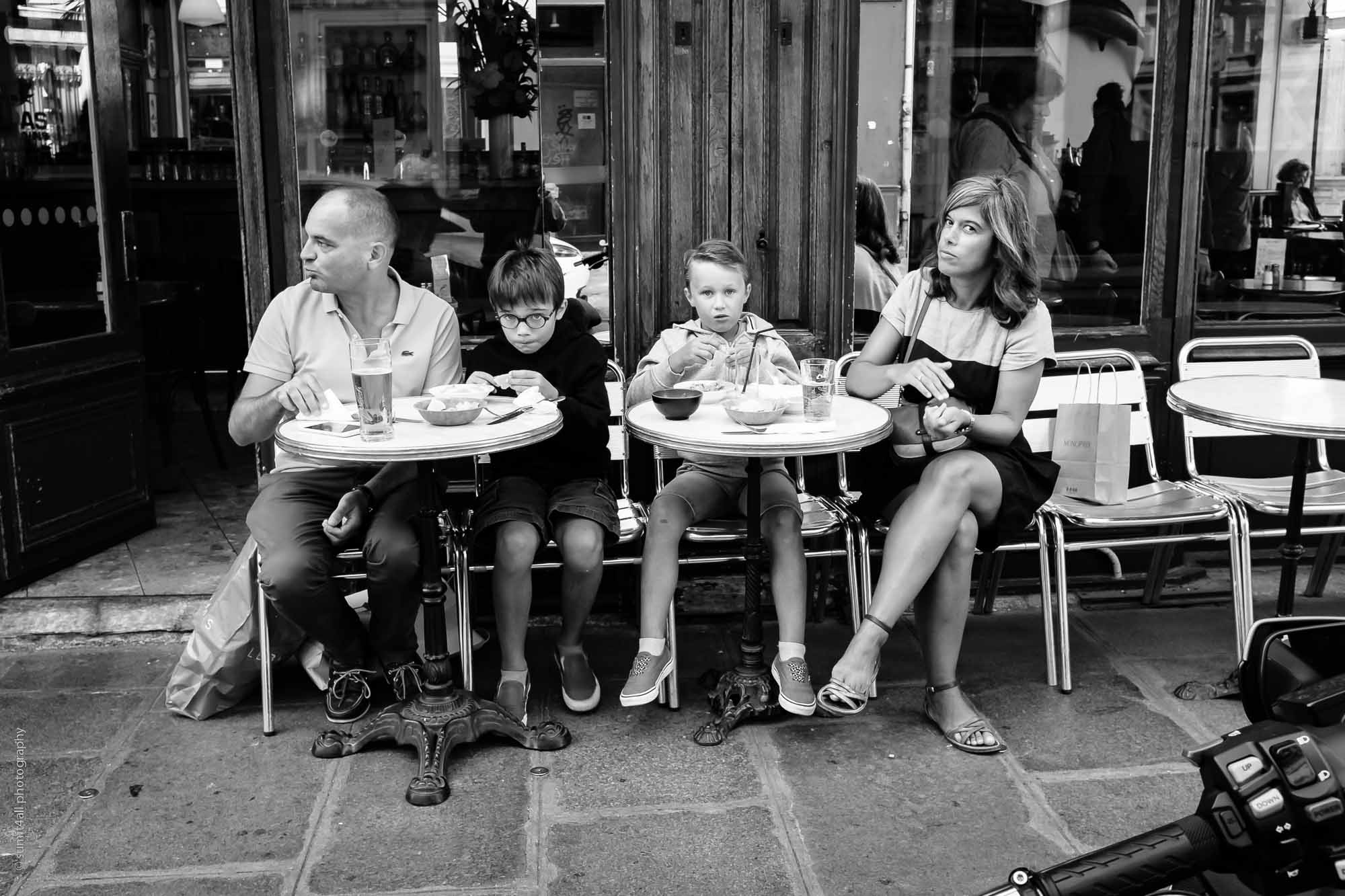 Cafe Lunch on a Lazy Summer Afternoon in Paris