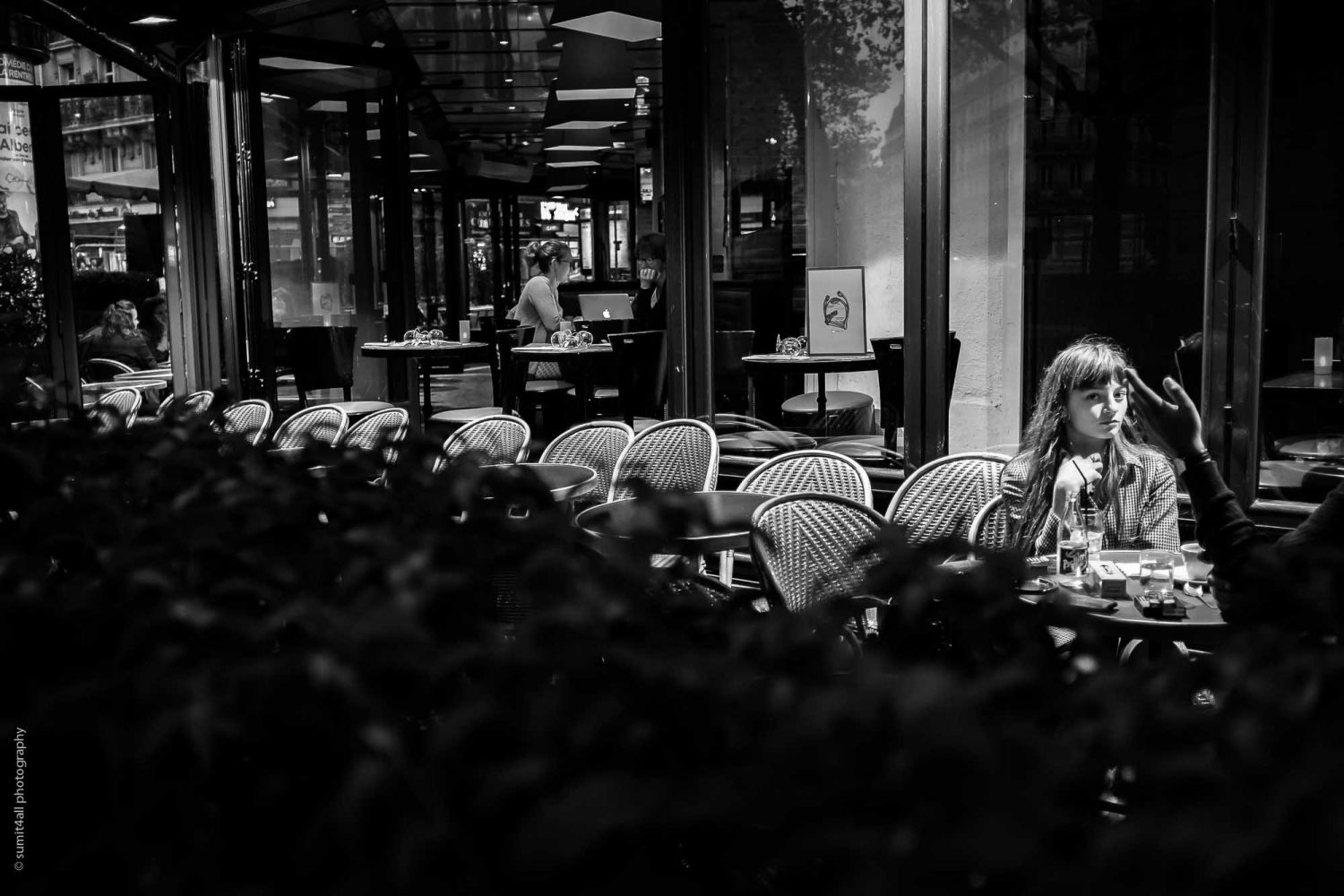 Evening Coffee in a Cafe in Paris