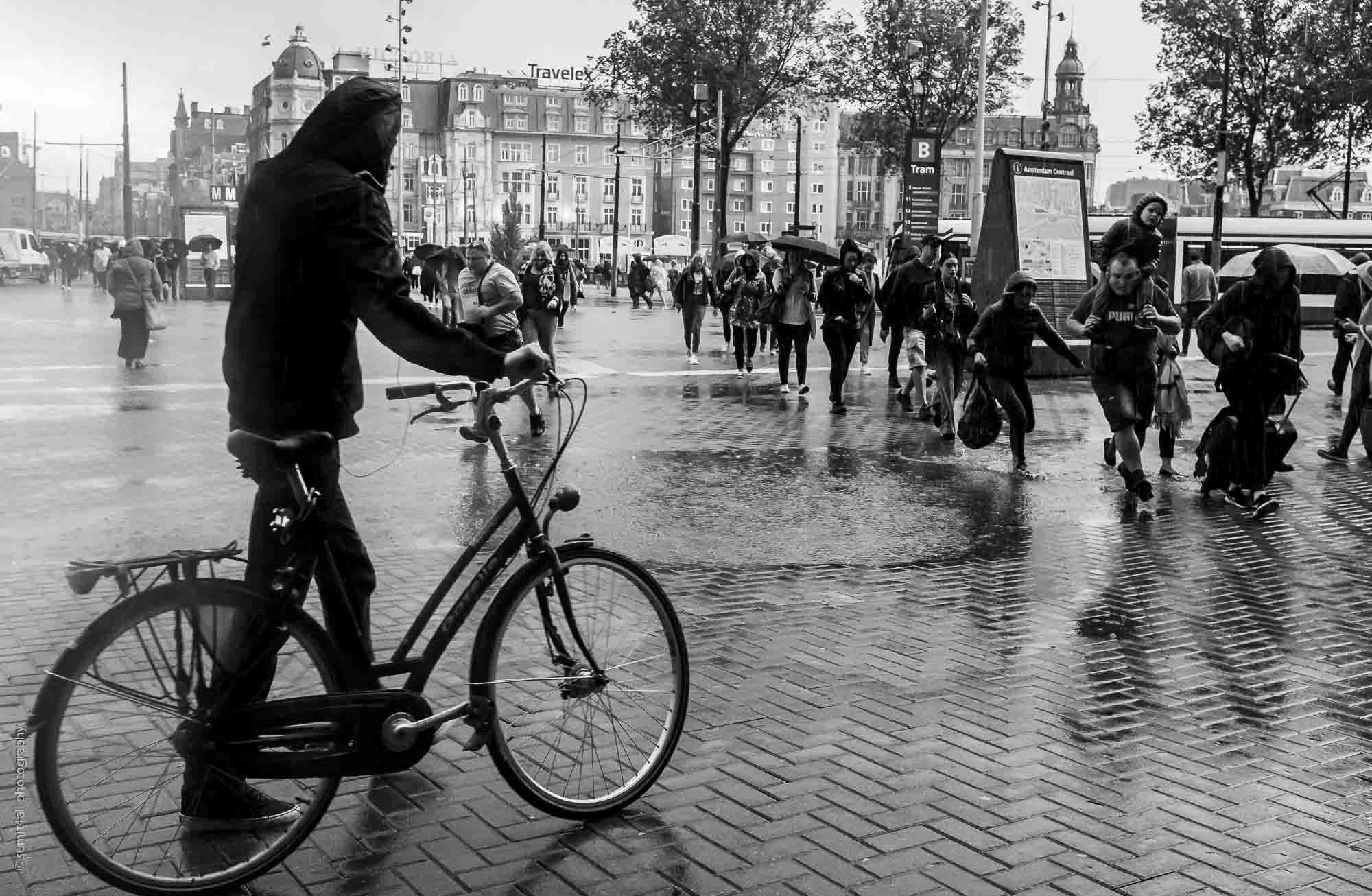 The Rain Is Always Around the Corner in Amsterdam